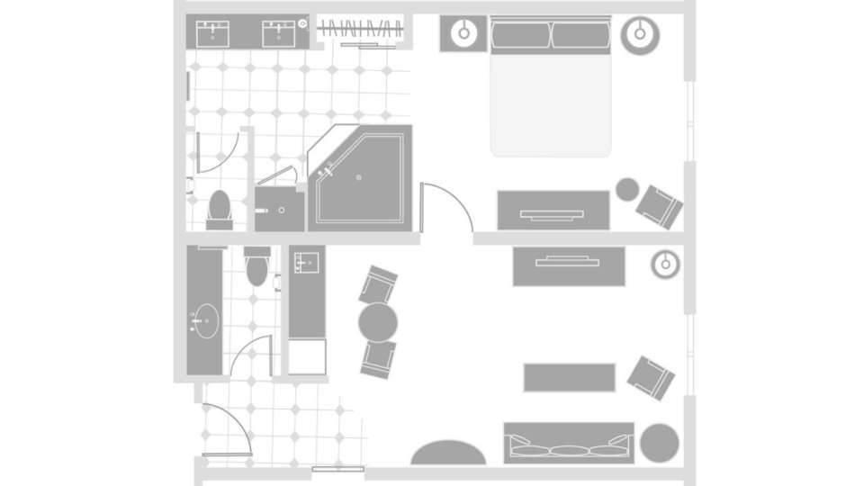 Excalibur Las Vegas Resort Luxury Suite Floorplan