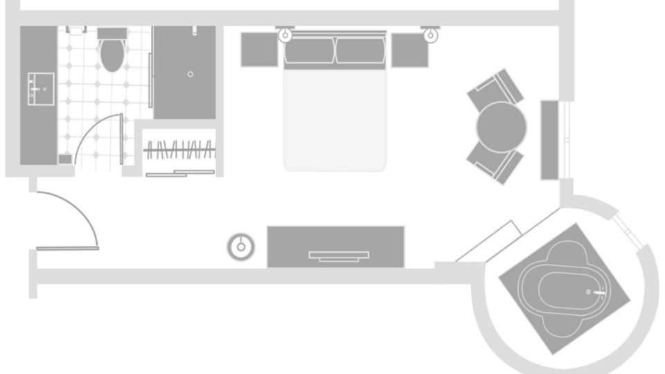 Excalibur Las Vegas Resort Superior King Room Floorplan