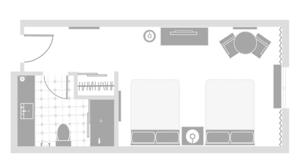 Excalibur Las Vegas Resort Tower Queen Room Floor Plan
