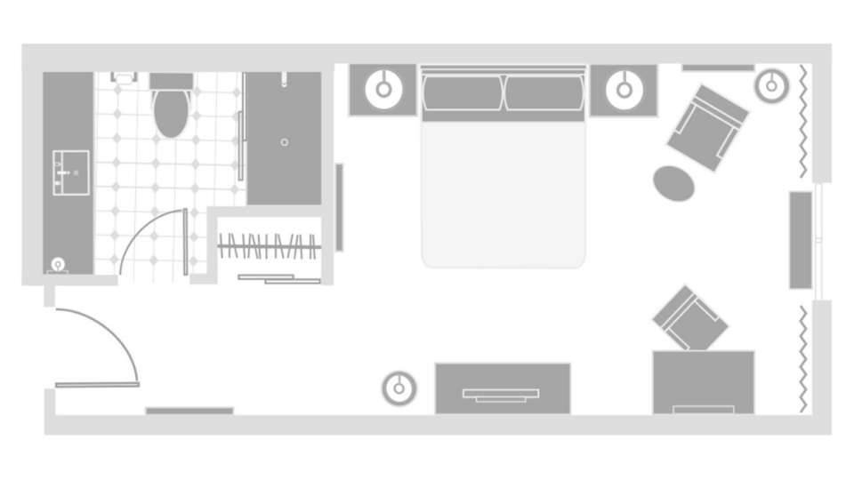 Excalibur Las Vegas Resort Tower Room Floor Plan