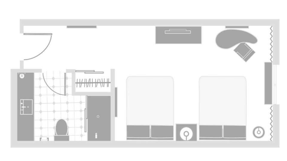 Excalibur Las Vegas Royal Tower Queen Room Floor Plan