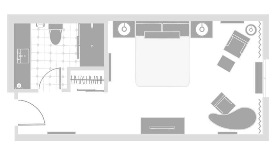 Excalibur Las Vegas Royal Tower Room Floor plan