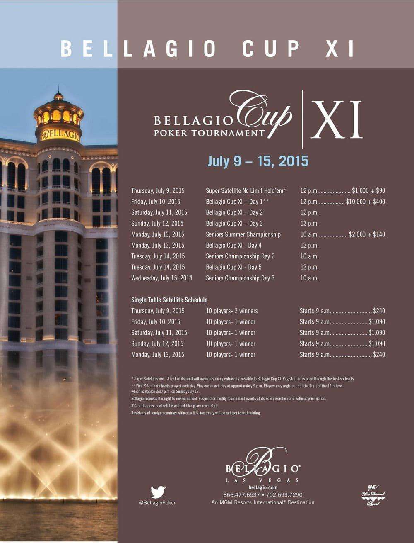 bellagio cup XI 2015 schedule