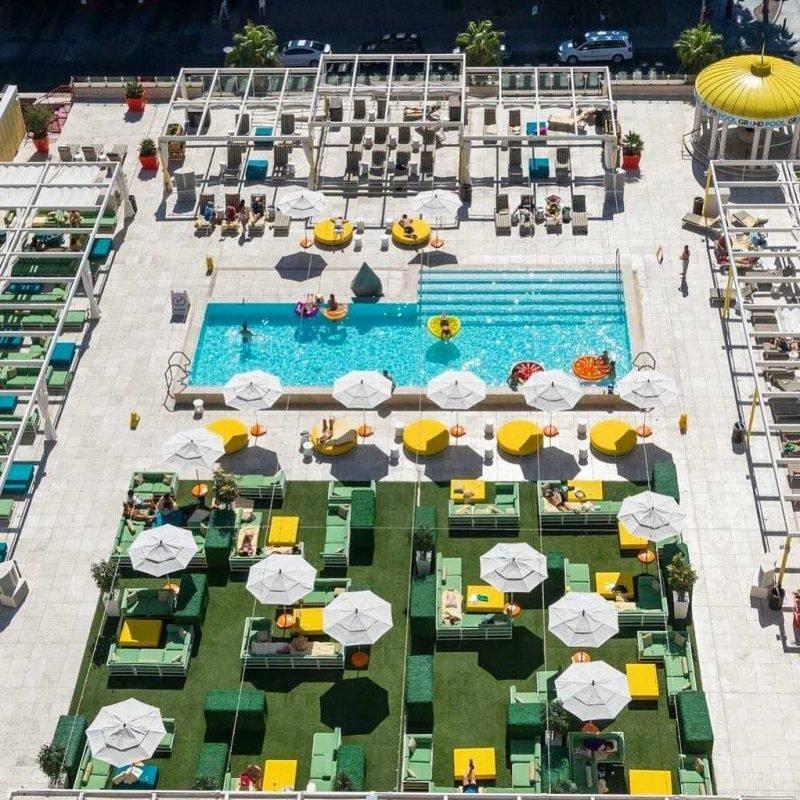 Downtown Grand Las Vegas Citrus Rooftop Pool