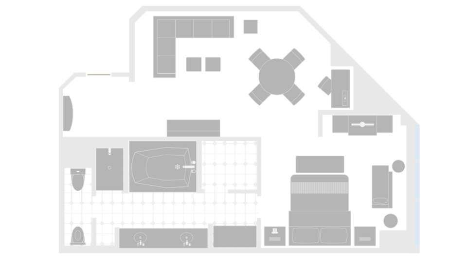 MGM Grand Las Vegas City View Suite Floorplan