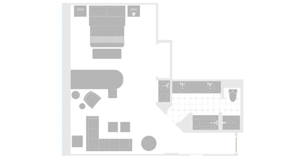 MGM Grand Las Vegas Executive King Suite Floorplan