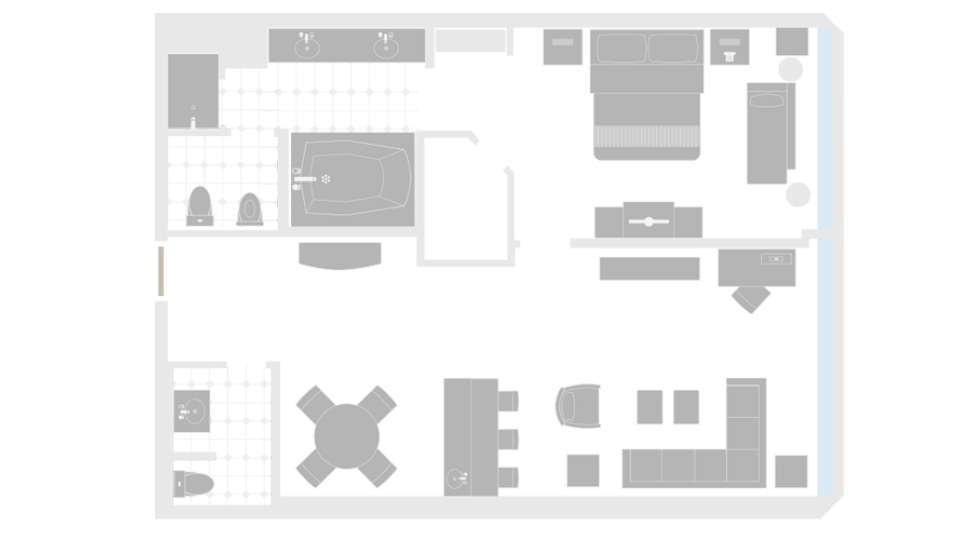 MGM Grand Las Vegas Penthouse City View Suite Floorplan