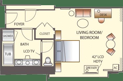 Wynn Las Vegas Deluxe Panoramic Corner Room Floorplan