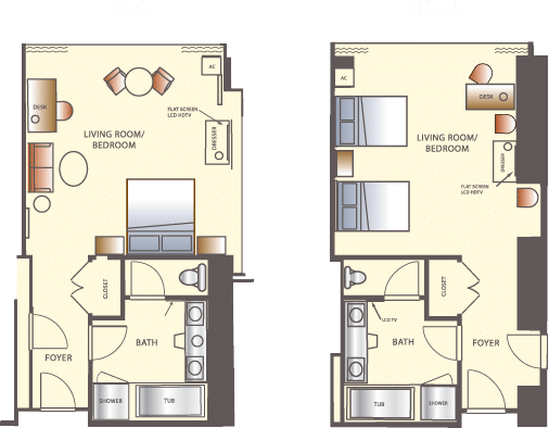 Wynn Las Vegas Deluxe Resort Room Floorplan