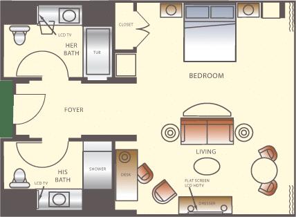 Wynn Las Vegas Executive Suite Floorplan