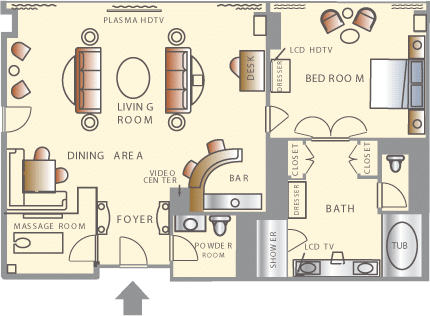 Wynn Las Vegas Salon Suite Floorplan