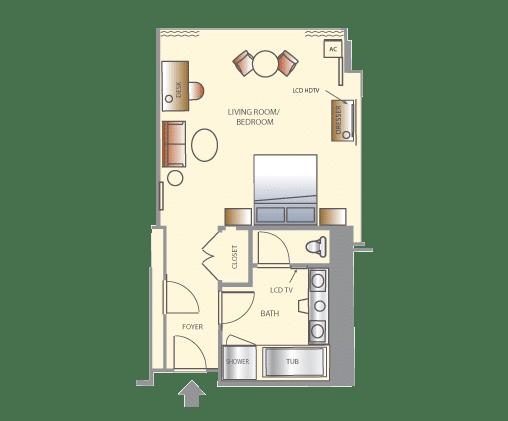 Wynn Las Vegas Tower King Suite Floorplan