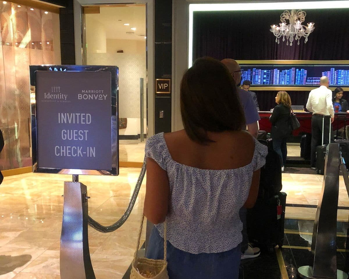 Cosmopolitan Las Vegas VIP check-in