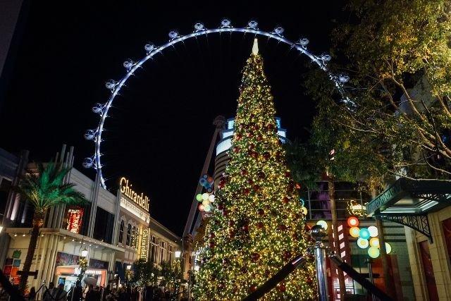The LINQ Promenade Las Vegas Christmas Tree