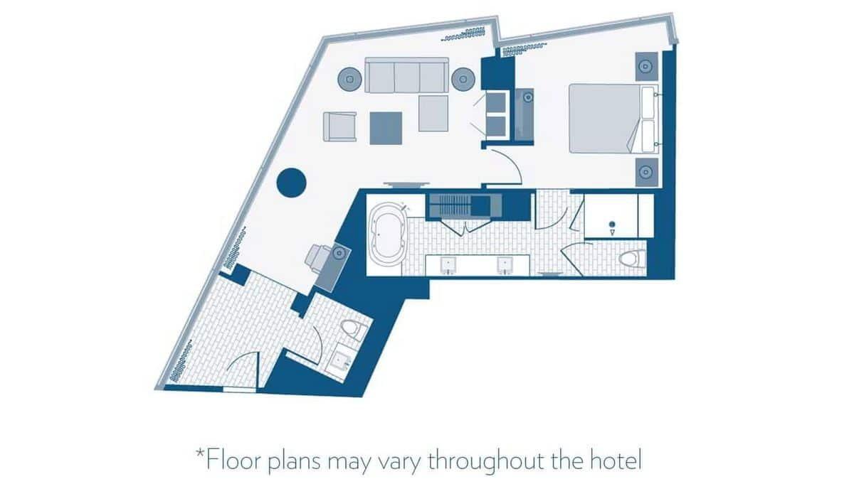 Aria Las Vegas Corner Suite Floor Plan