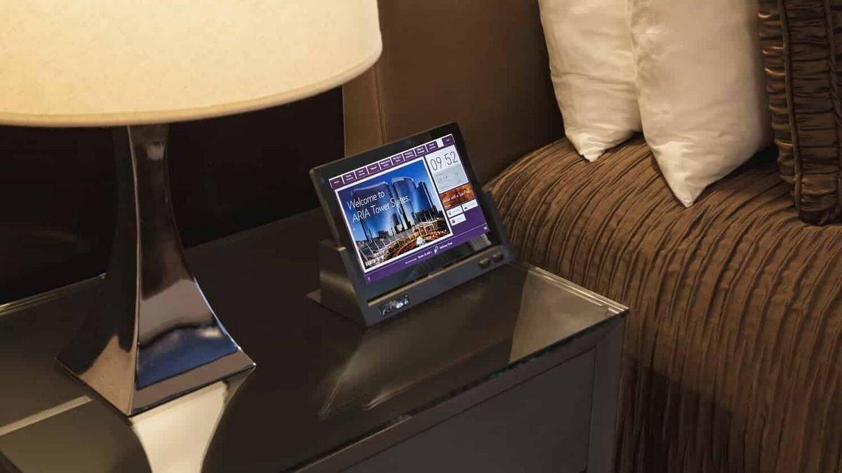 Aria Las Vegas Room Control Tablet