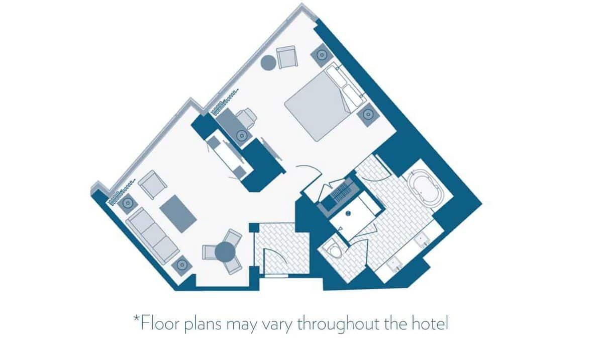 Aria Las Vegas Tower Suite Floor Plan