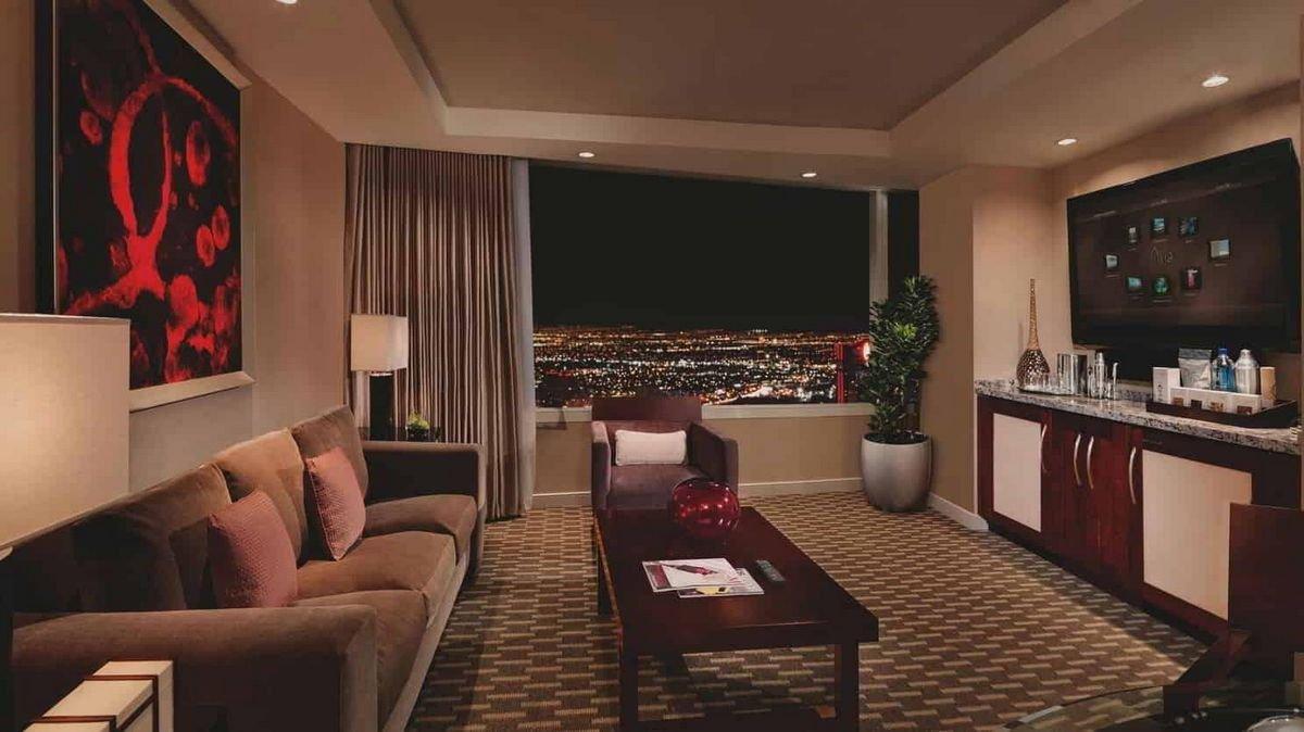Aria Las Vegas Tower Suite Living Room
