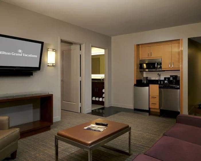 Elara Las Vegas Junior 1 King Suite Living Room