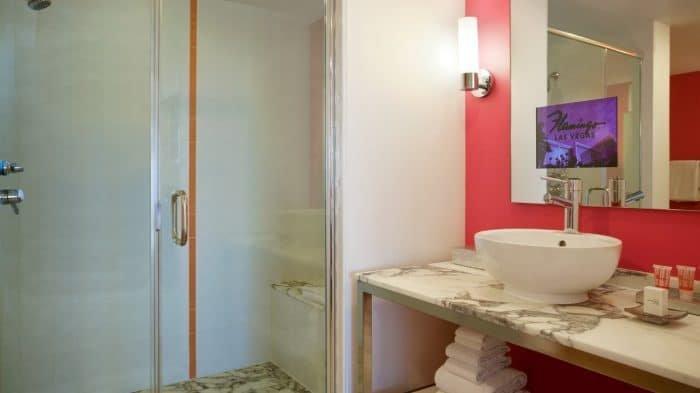 Flamingo Las Vegas Neapolitan Suite Bathroom