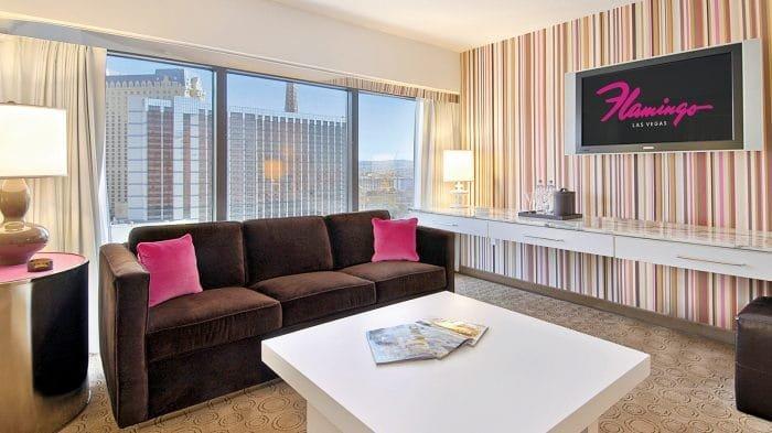 Flamingo Las Vegas Neapolitan Suite Living Room