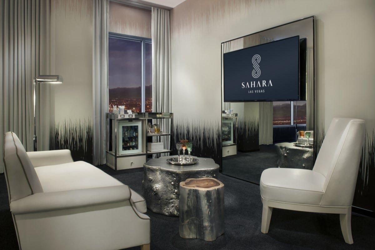 Sahara Las Vegas Marra Junior Suite Living Room