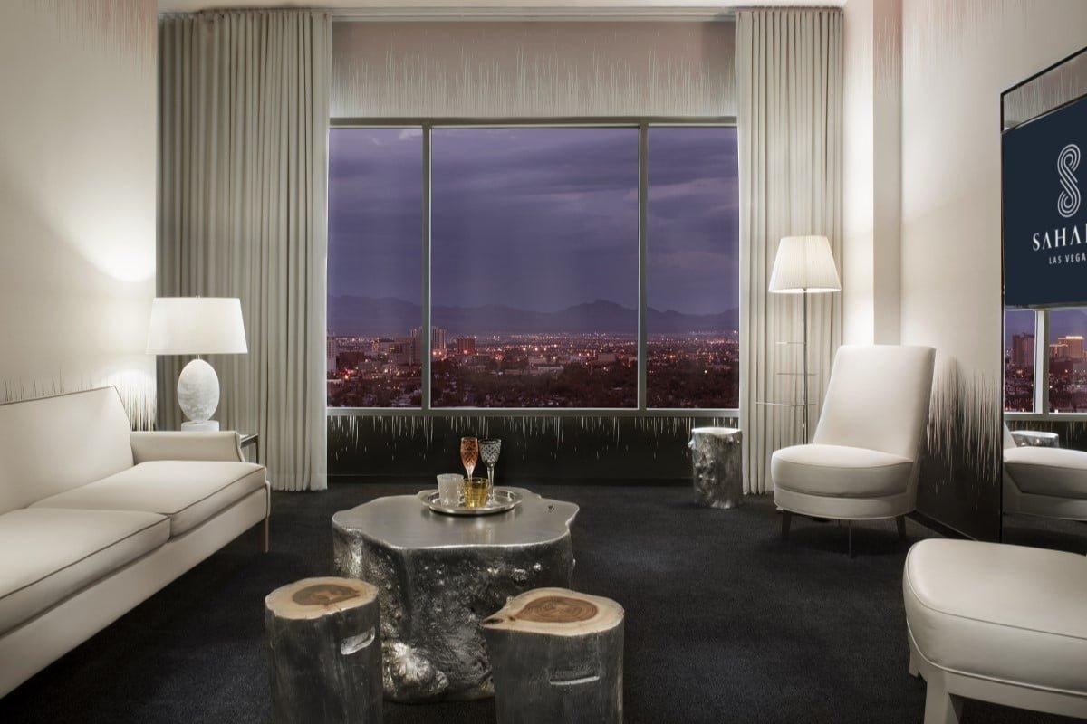 Sahara Las Vegas Marra One Bedroom Suite Living Room