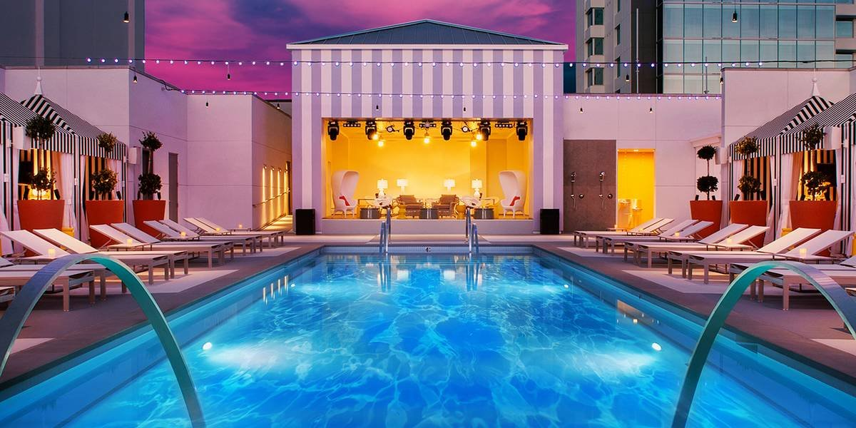Sahara Las Vegas Retro Pool Lounge