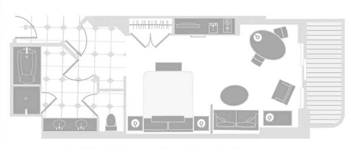 The Signature Las Vegas Deluxe Balcony Suite Floor Plan