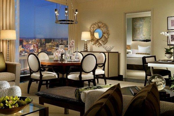 Trump Las Vegas Deluxe Penthouse Dining Room