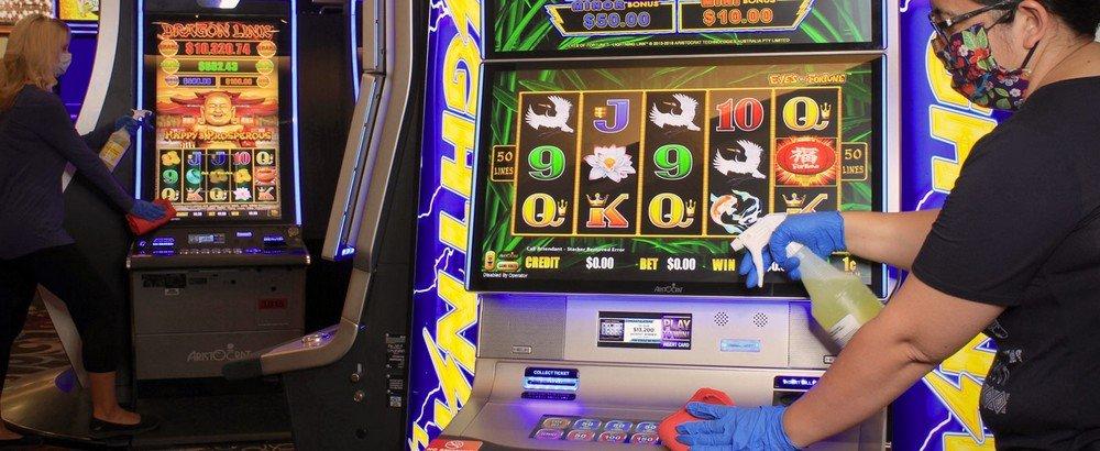 Las Vegas Slot Machine Cleaning Coronavirus