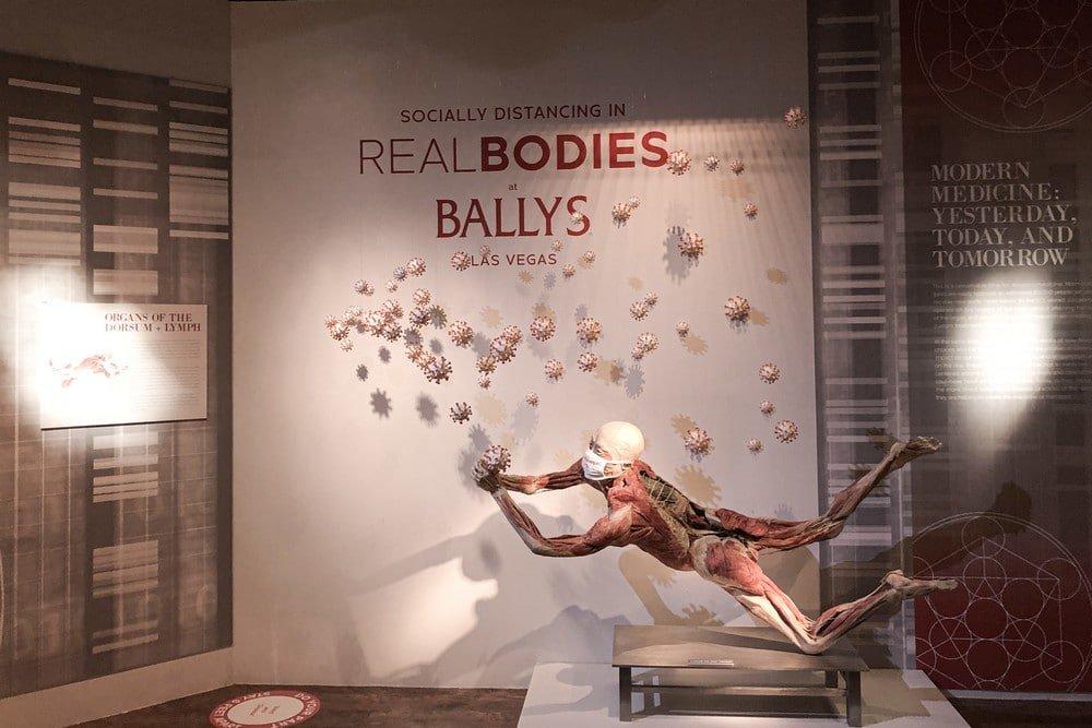 Real bodies Bally's Las Vegas Social Distancing