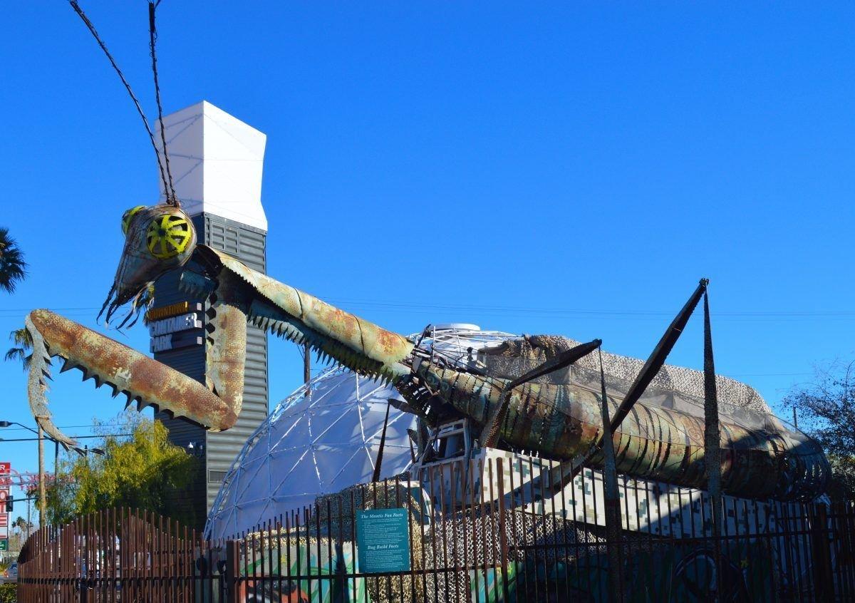 Las Vegas Downtown Container Park Praying Mantis